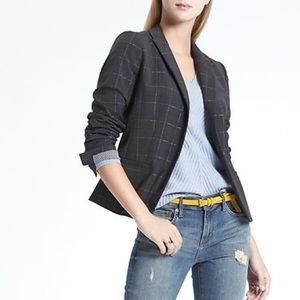 NWT Banana Republic plaid wool jacket blazer